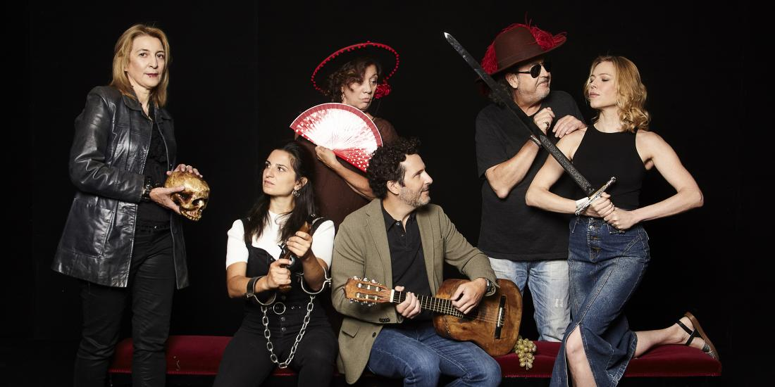 Ambiente familiar de Aitana Galán y Jesús Gómez Gutiérrz. Teatro Español